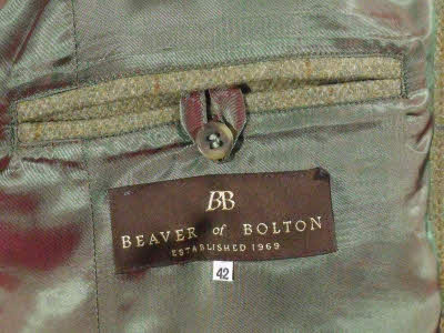 Beaver Of Bolton Mens Classic Action Back Tweed Action