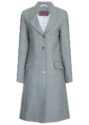 Beaver of Bolton Ladies 3/4 Length Peak Lapel Tweed Coat