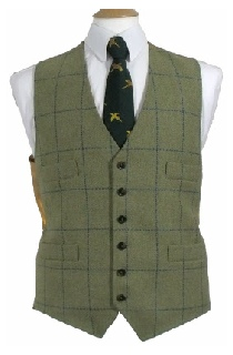 Beaver Mens Classic Four Pocket Tweed Waistcoat