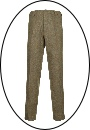 Beaver of Bolton Mens Slim Leg Tweed Trousers