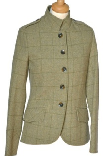 Beaver Of Bolton Ladies Single Breasted Military Tweed Jacket