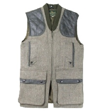 Beaver of Bolton Mens Zip Front Shooting Vest