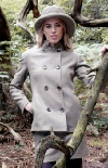 Beaver of Bolton Ladies Stand Collar Double Breasted Tweed Jacket