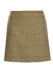 Beaver of Bolton Ladies Multi-Stitch Short Tweed Skirt Front