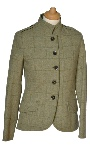 Beaver Of Bolton Ladies Single Breasted Curved Front Military Jacket