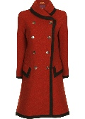 Beaver of Bolton Ladies Framed Double Breasted Shawl Collar Coat Front 2