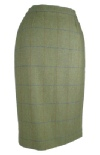 Beaver of Bolton Ladies Waisted Tweed Pencil Skirt