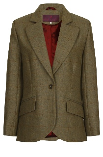 Beaver of Bolton Ladies Single Breasted Tailored Tweed Jacket Front