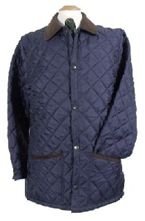 Beaver Mens Tailored Diamond Quilted Nylon Jacket