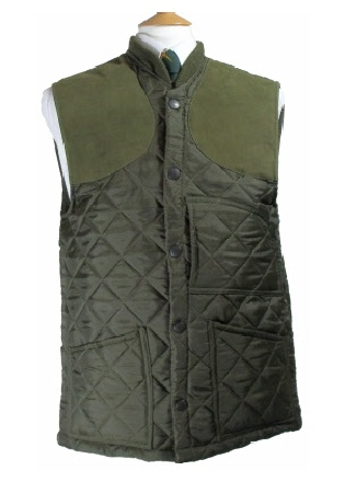 Beaver Mens Diamond Quilted Nylon Shooting Waistcoat