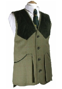 Beaver Mens Classic Tweed Shooting Gilet