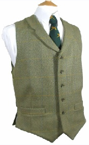 Beaver Mens Tweed Two Pocket Lapel