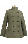 Beaver Of Bolton Ladies Double Breasted Military Jacket