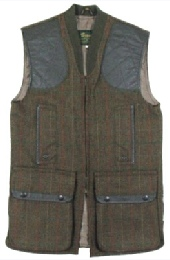 Beaver of Bolton Zip Front Tweed Shoot Vest