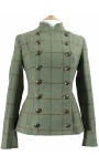 Beaver of Bolton Ladies Tweed Cropped Pirate Jacket