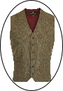 Beaver of Bolton Mens Four/Two Pocket Tweed Waistcoat