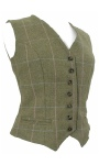 Beaver of Bolton Ladies Single Breasted Tweed Waistcoat