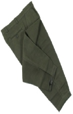 Beaver Of Bolton Moleskin Breeks in Dark Olive Green