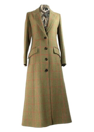 Beaver of Bolton Ladies Tweed Full Length Single Breasted Coat