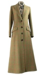 Beaver Of Bolton Ladies Long Single Breasted Tweed Coat