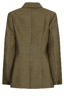 Ladies Single Breasted Tailored Tweed Jacket Rear