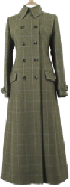 Baever Of Bolton UM 0030 Ladies Full Length Double Breasted Tweed Coat
