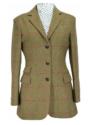 Beaver of Bolton Ladies Single Breasted Tweed Riding Jacket