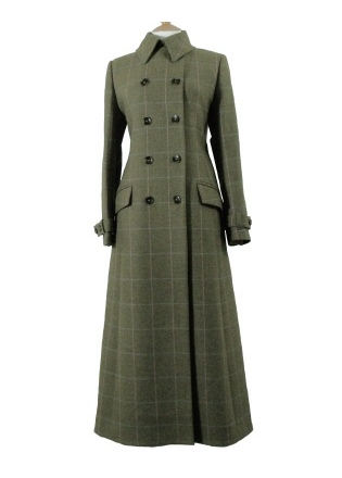 Beaver of Bolton Ladies Tweed Full Length Double Breasted Coat