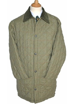 Beaver Mens Diamond Quilted Tweed Jacket