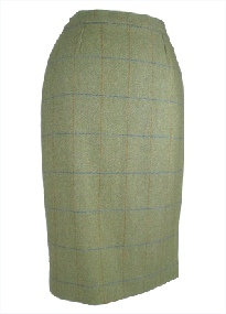 Beaver of Bolton Ladies Tweed Waisted Pencil Skirt