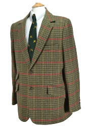 Beaver of Bolton Mens Single Breasted Two Button Tweed Sports Jacket in Keeper Tweed