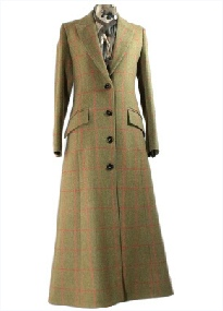 Beaver Ladies Full Length Single Breasted Tweed Coat