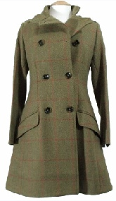 Beaver Ladies Tweed Military Coat