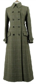 Beaver Ladies Full Length Double Breasted Tweed Coat