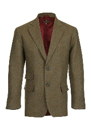Beaver of Bolton Mens Single Breasted Two Button Tweed Sports Jacket Front 2