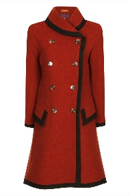 Beaver of Bolton Ladies Farmed Shawl Collar Double Breasted Coat